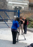 On location with the video production team