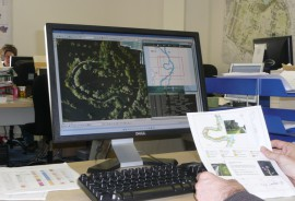 GIS mapping in progress