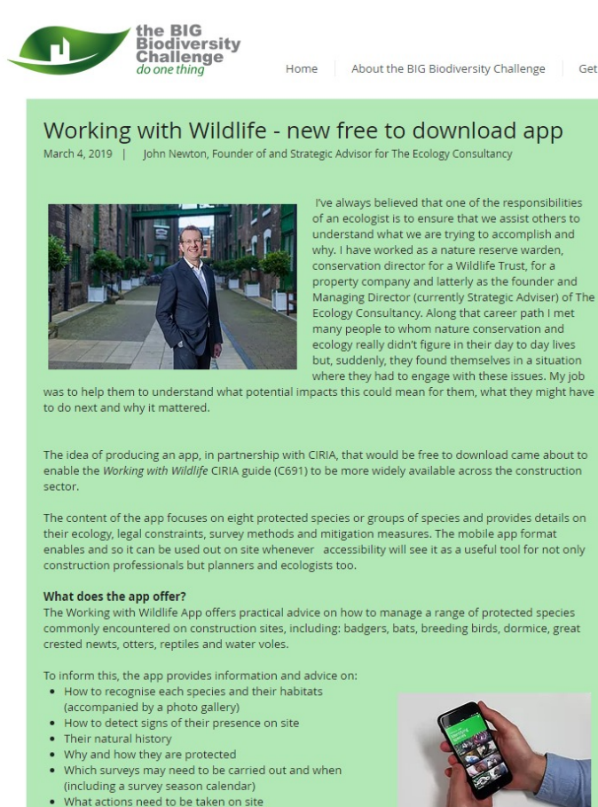 Big Biodiversity Challenge: new free to download app - The Ecology