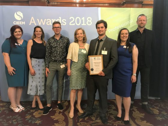 Our School Ecology Workshop s receives Highly Commended in the 2018 CIEEM Knowledge Sharing award