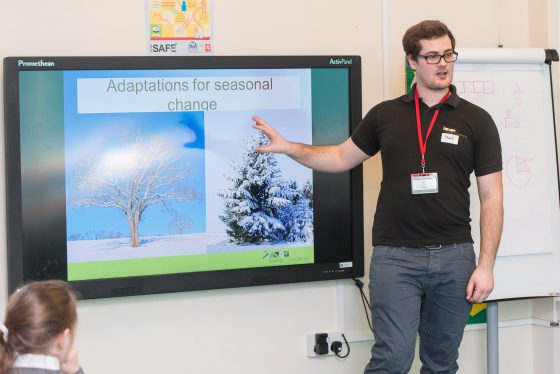 Ecologist teaching on The Ecology Consultancy's newsly launched School Ecology Workshops