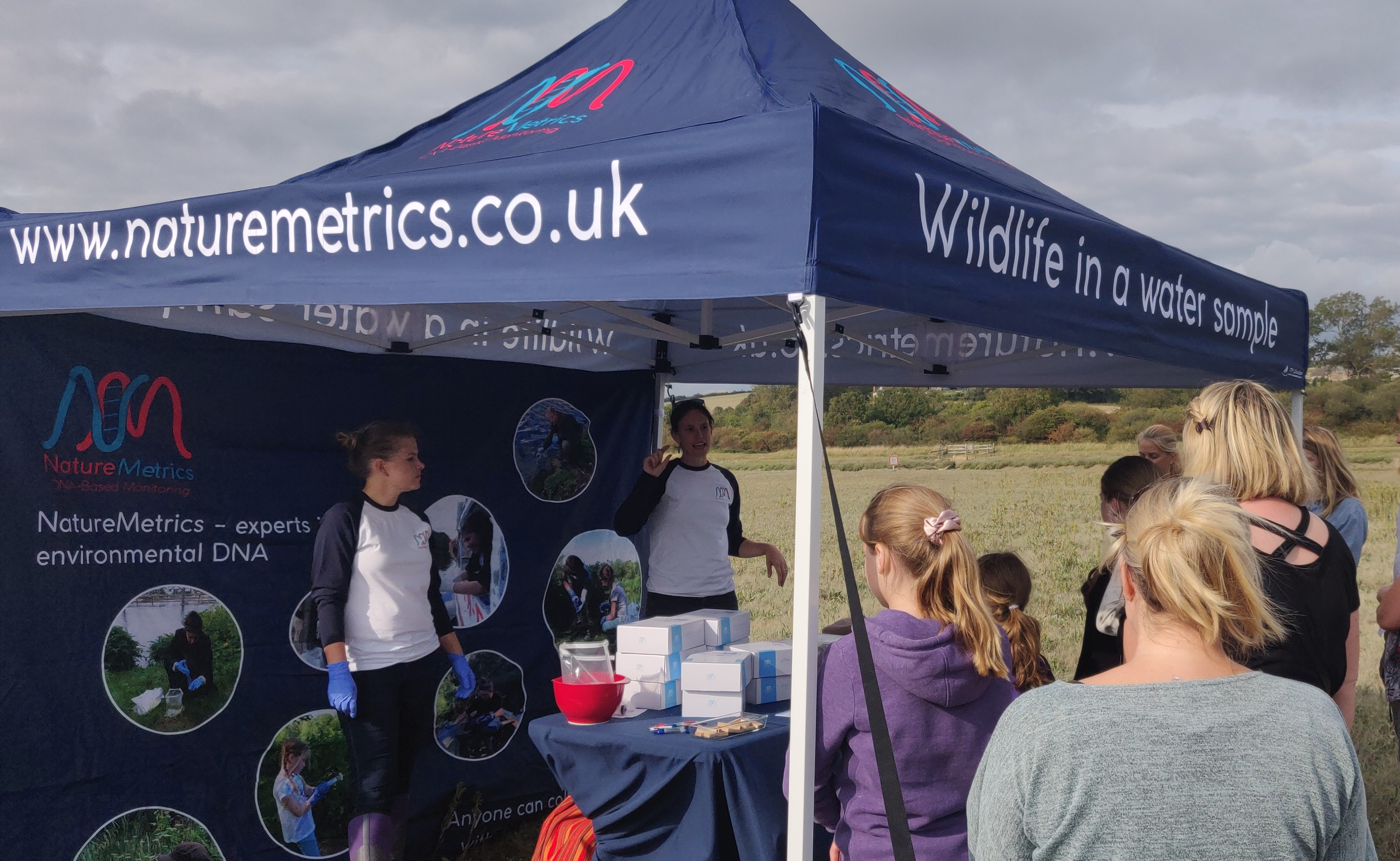 Nature Metrics lunch the 1000 Rivers project on the banks of the River Adur