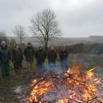 Scrub clearance volunteering for South East Water